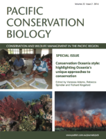 Special Issue in Pacific Conservation Biology Highlighting Oceania's Unique Approaches to Conservation