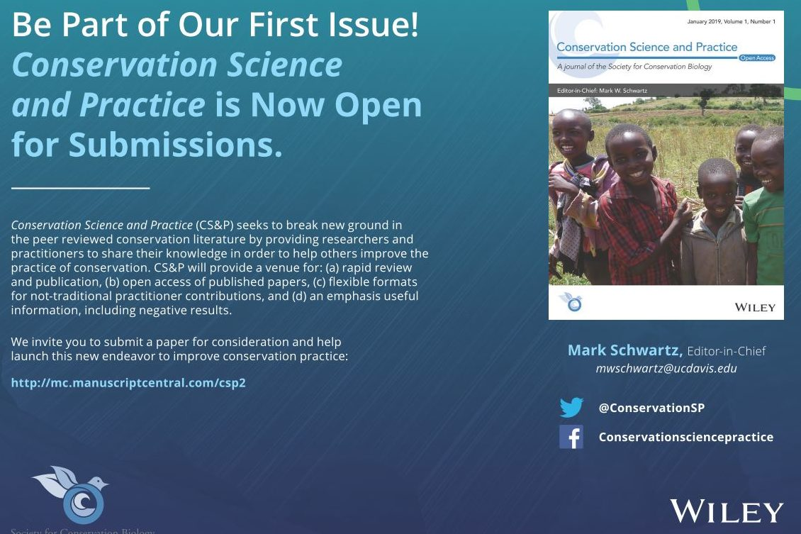 New Journal: Conservation Science & Practice